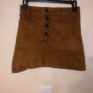 Zara brown extra small suede skirt